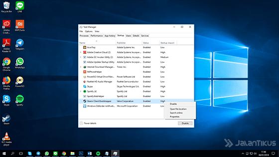 Percepat Waktu Startup Windows