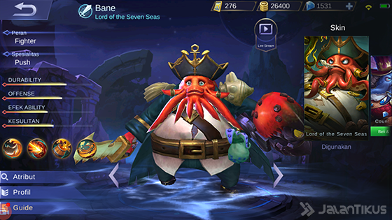 Bane Mobile Legends
