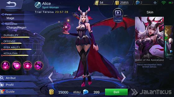 Hero Alice Mobile Legends