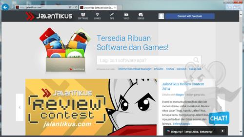 Jalantikus Di Internet Explorer