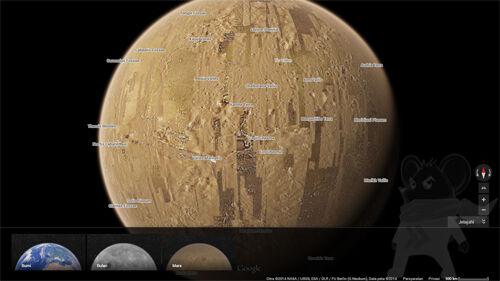 Google Maps Planet Mars Bulan4