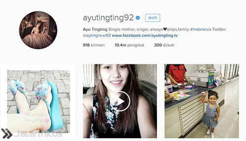 Akun Instagram Artis Indonesia 1