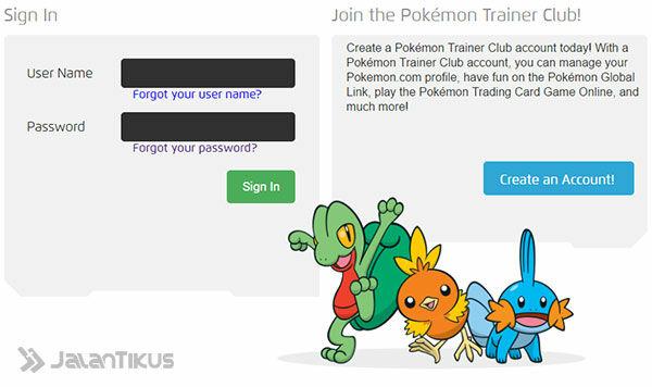 Cara Mudah Membuat Akun Pokemon Trainer Club (PTC) - JalanTikus com