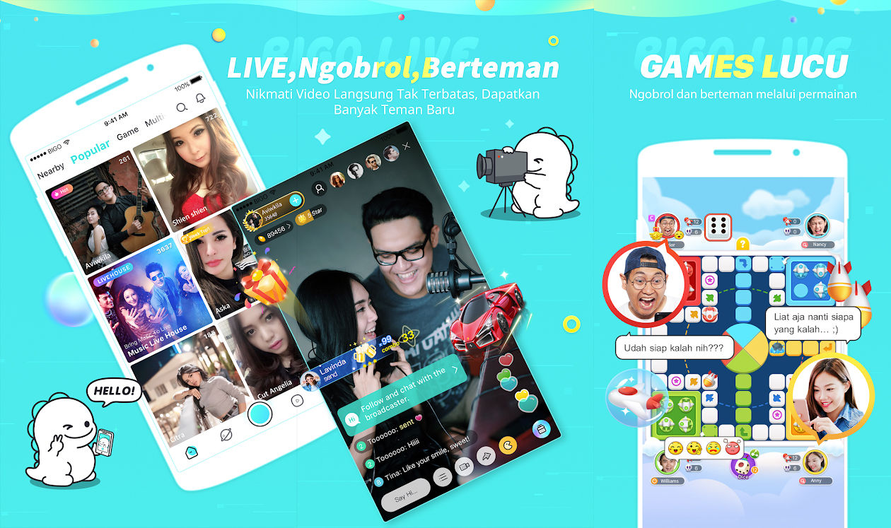 15 Aplikasi Live Streaming Terbaru 2019 (Game, Bola, Dll