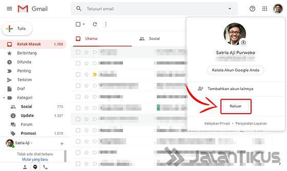 4 Cara Logout Gmail Di Hp Android Iphone Laptop Mudah Jalantikus
