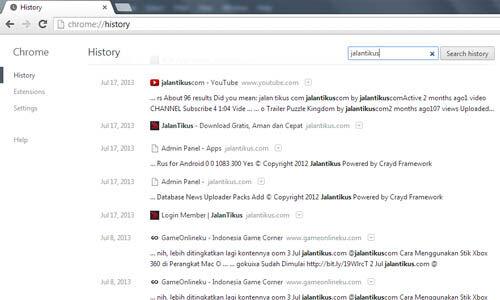Tips Mencari Website Yang Pernah Diakses Melalui History Chrome 3