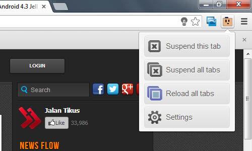 Cara Menghemat RAM Ketika Browsing 2