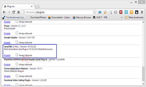 Cara Mematikan Java Di Chrome