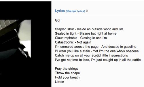 Lyrics Chrome
