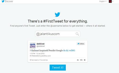 Fitur Terbaru Twitter Melihat Tweet Pertama
