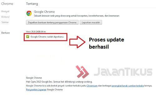 Cara Update Google Chrome 3