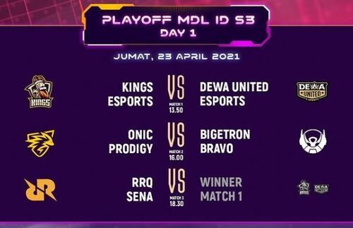 Jadwal Playoff MDL 578b5