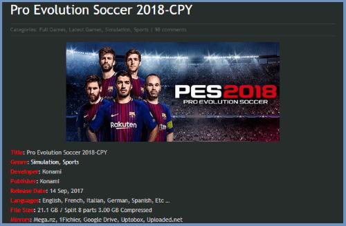 Link Download Pes 2018 Terbaru 1