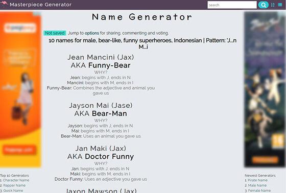 Gamer Names Generator