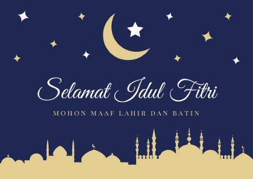 Cara Edit Foto Ucapan Selamat Idul Fitri - kartu ucapan ...