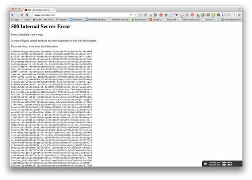 Youtube Server Error