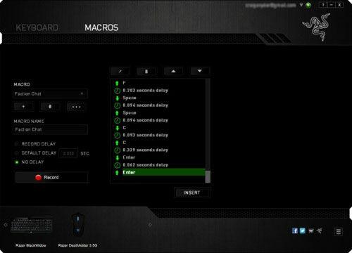 Razer Deathstalker Ultimate Macro