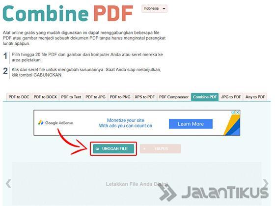 Cara Menggabung File Pdf Online Dan Offline Digitek Id