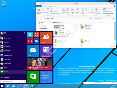 Bocoran Gambar Windows 9 Build 9834 1
