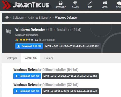 Cara Membuat USB Bootable Windows Defender Versi Offline 1