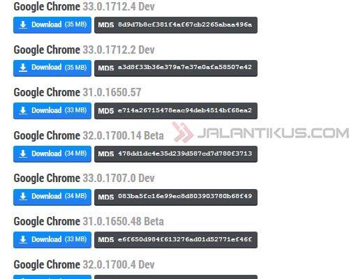 Perbedaan Google Chrome Versi Stable Beta Dan Dev