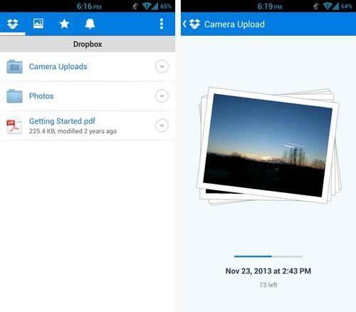 Upload Foto Otomatis Dari Android Dropbox