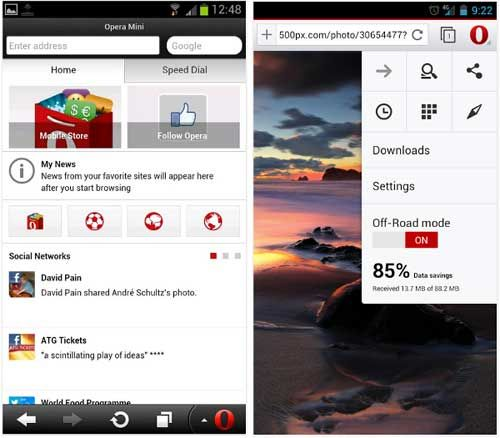 Android Browser Opera