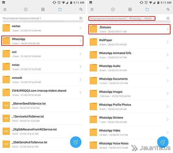 Cara Menyimpan Status Whatsapp Orang Lain 100 Works Jalantikus