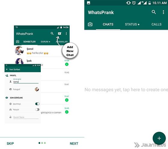 cara buat chat palsu di whatsapp untuk tipu temanmu. Black Bedroom Furniture Sets. Home Design Ideas