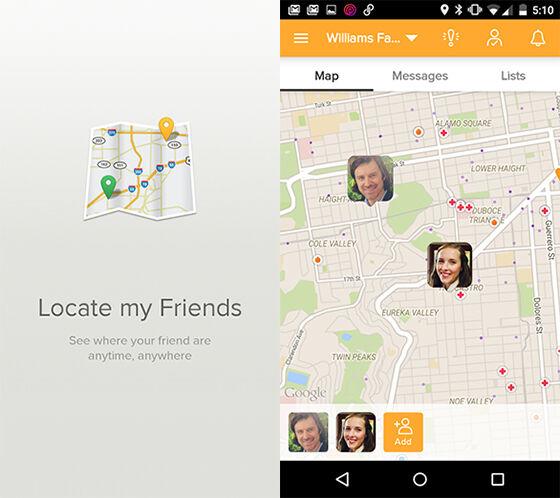 Find My Friends aplikasi untuk melacak keberadaan orang lain