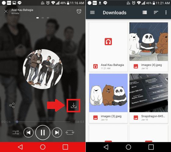 cara download MP3 di android