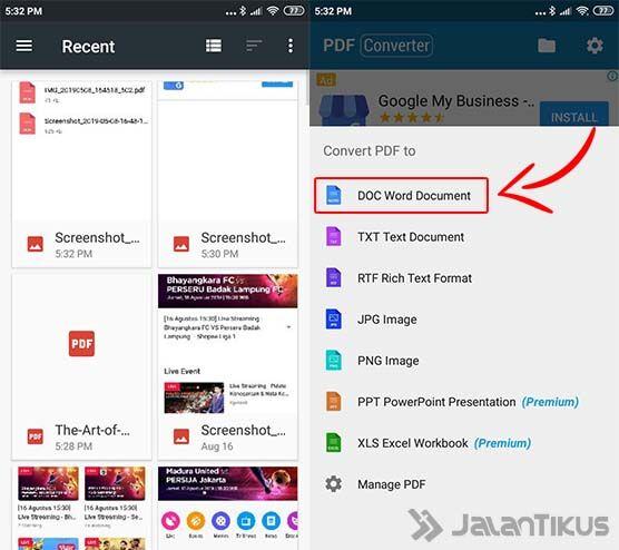 5 Cara Ubah PDF ke Word di Laptop & Android - JalanTikus.com