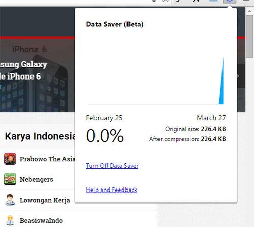 Google Merilis Data Saver Ekstension Untuk Browser Chrome