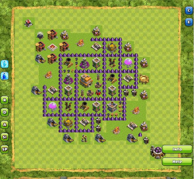 Formasi Base Clan War Terbaik Di Clash Of Clans Town Hall 1 10