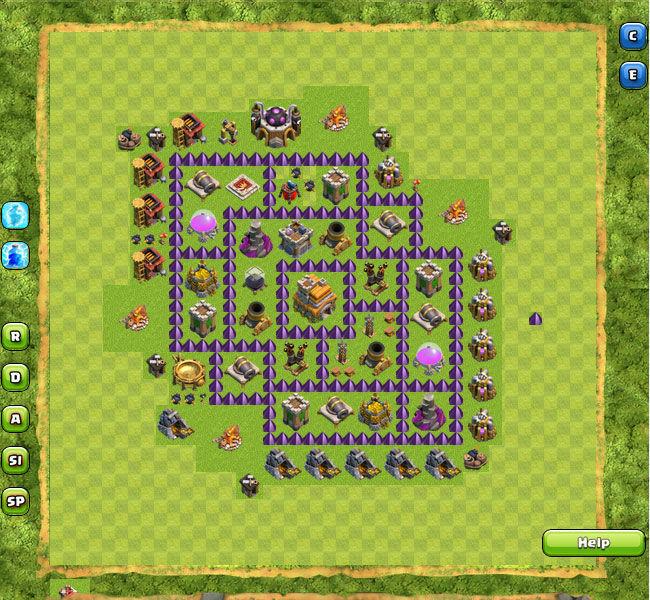 Contoh Base Coc Th 7 Terkuat Di Dunia 9