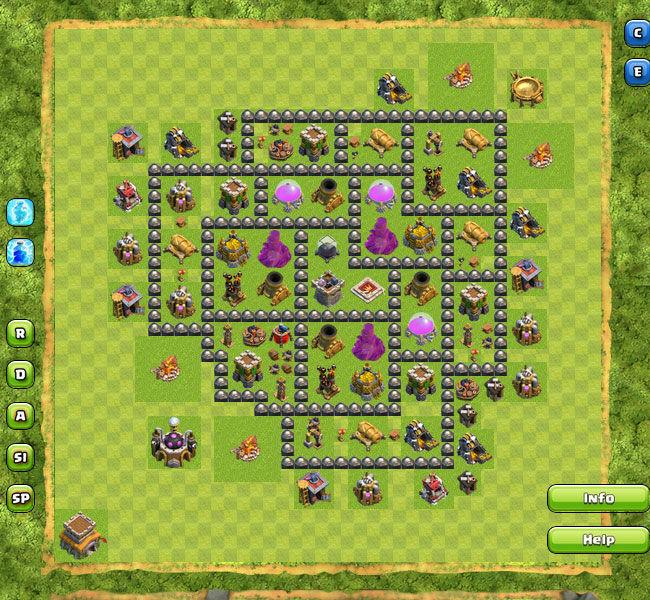 Update Susunan Formasi Base Town Hall 8 Terbaik Di Clash Of Clans