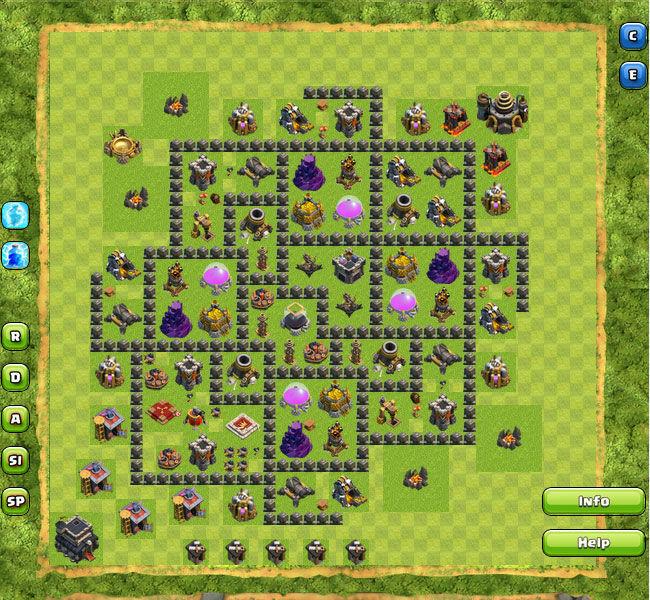 Base Coc Th 9 Pertahanan Terkuat 11