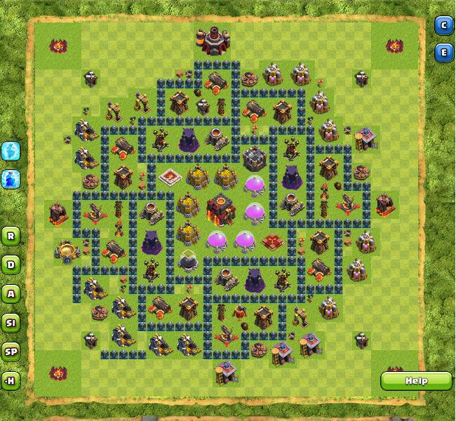 Pertahanan Base Coc Th 10 Terkuat 11