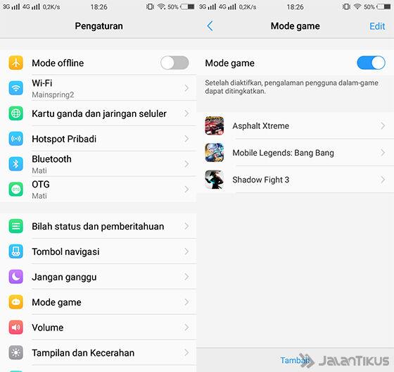 Game Mode Vivo V7