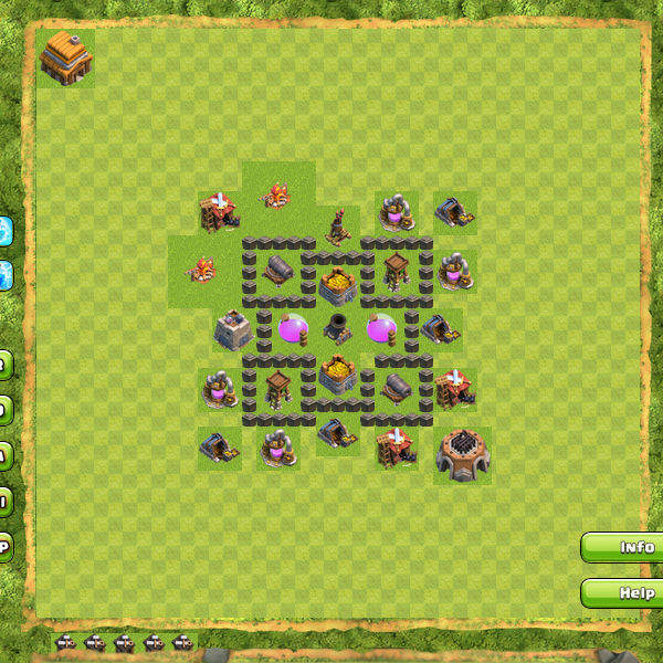 Base Coc Malam Th 4 Anti Bintang 2