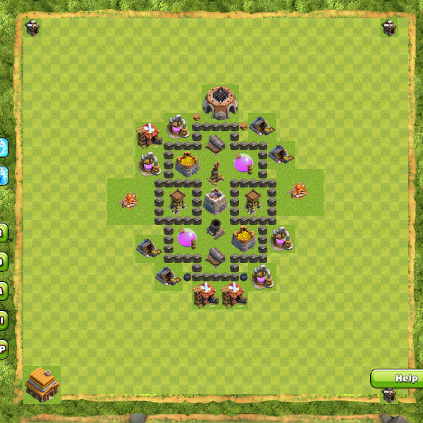 Bentuk Base Coc Th 4 Terkuat 7