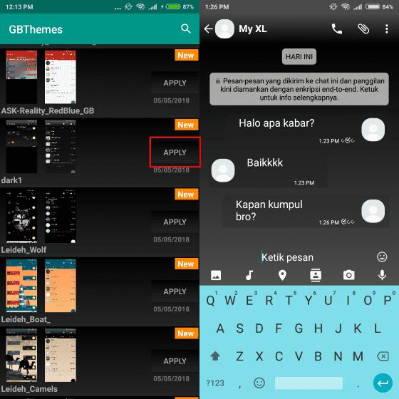 Cara Mengubah Tema WhatsApp Transparan Tanpa Root ...