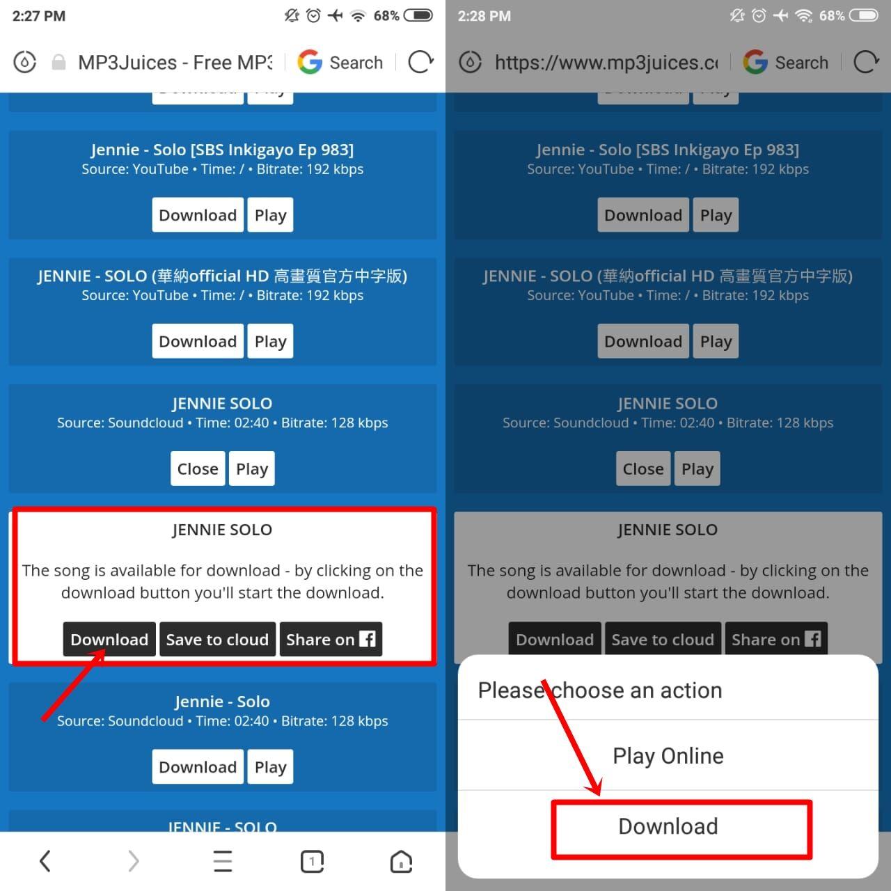 cara download lagu menggunakan uc browser