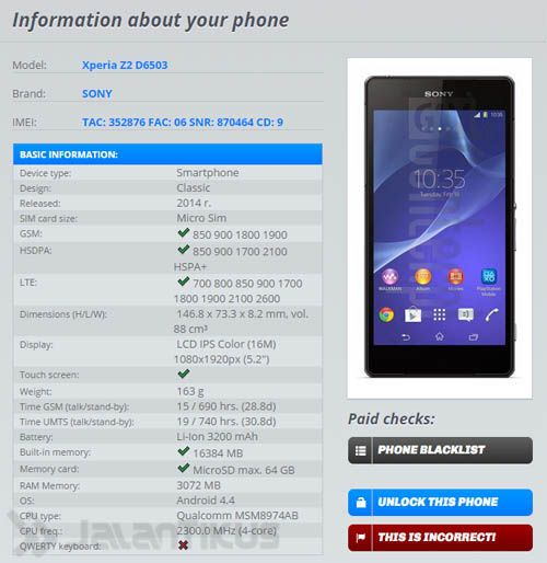 Information About My Phone