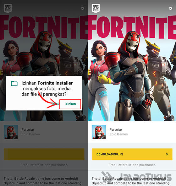 Cara Download Fortnite Mobile di HP Android Terbaru 2019