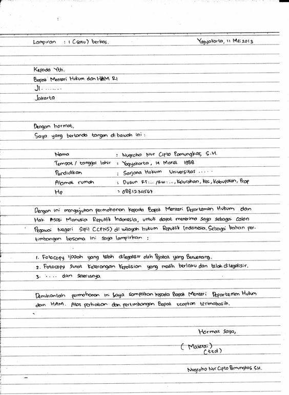Cara Membuat Lamaran Kerja Tulis Tangan Yang Baik Benar Jalantikus