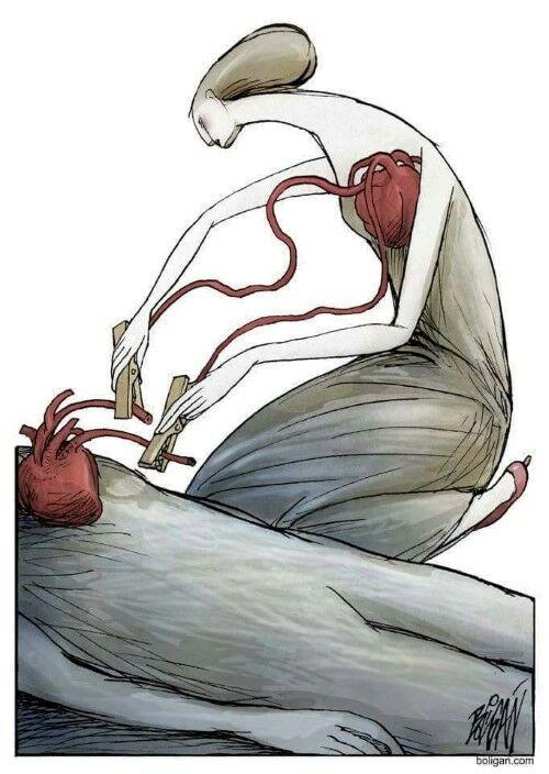 Ilustrasi Yang Menggambarkan Hati Manusia Saat Ini 3ok