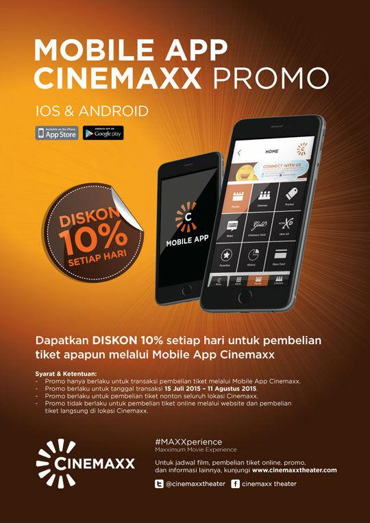 Diskon 10 Untuk Setiap Pembelian Tiket Nonton Di Cinemaxx