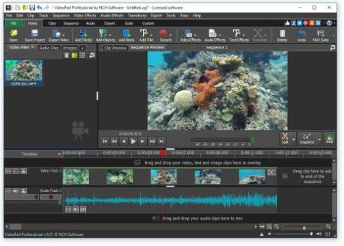 VideoPad Video Editor - Aplikasi Edit Video Terbaik Untuk PC