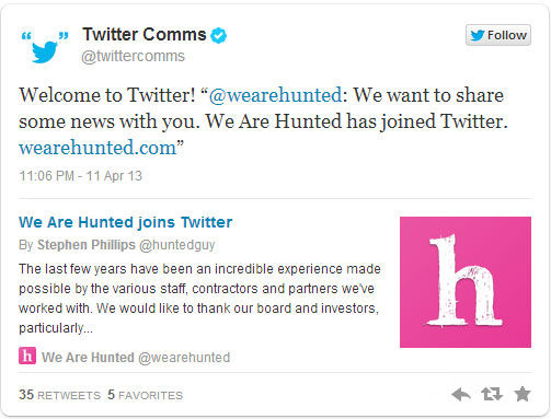 Twitter Akuisisi We Are Hunted